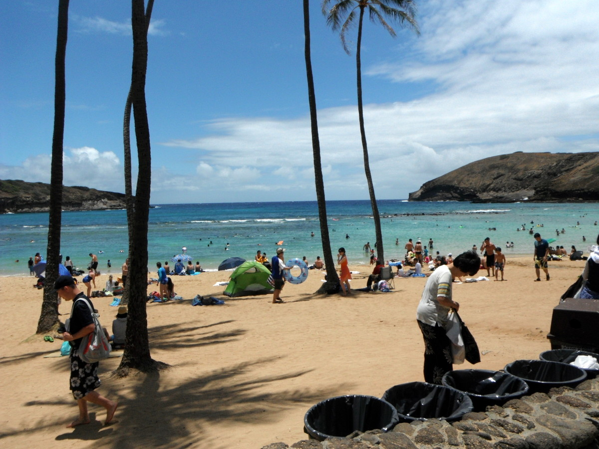 Hanauma Bay beach