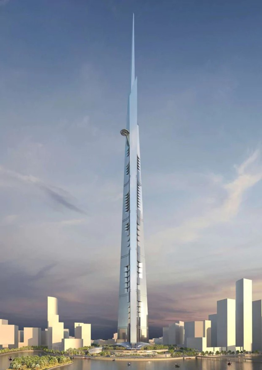 The proposed Jeddah Tower