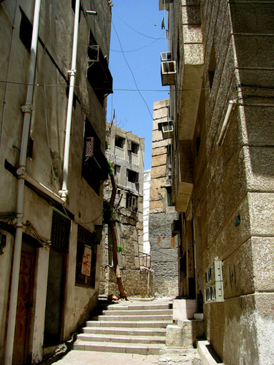Souq al-Alawi has many old buildings made from coral, and alleys to explore