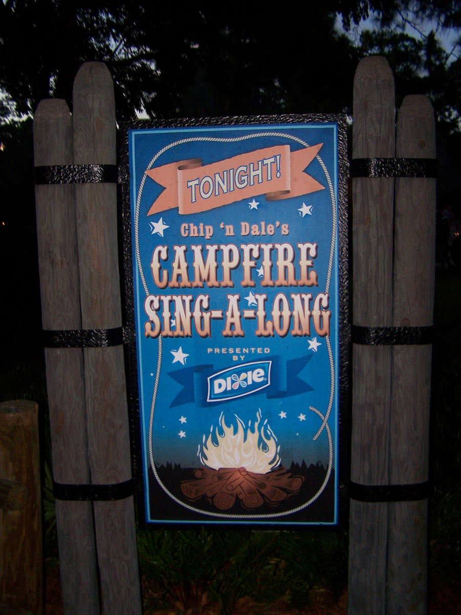 Campfire Sing-a-Long: Held every night at Fort Wilderness (weather permitting)