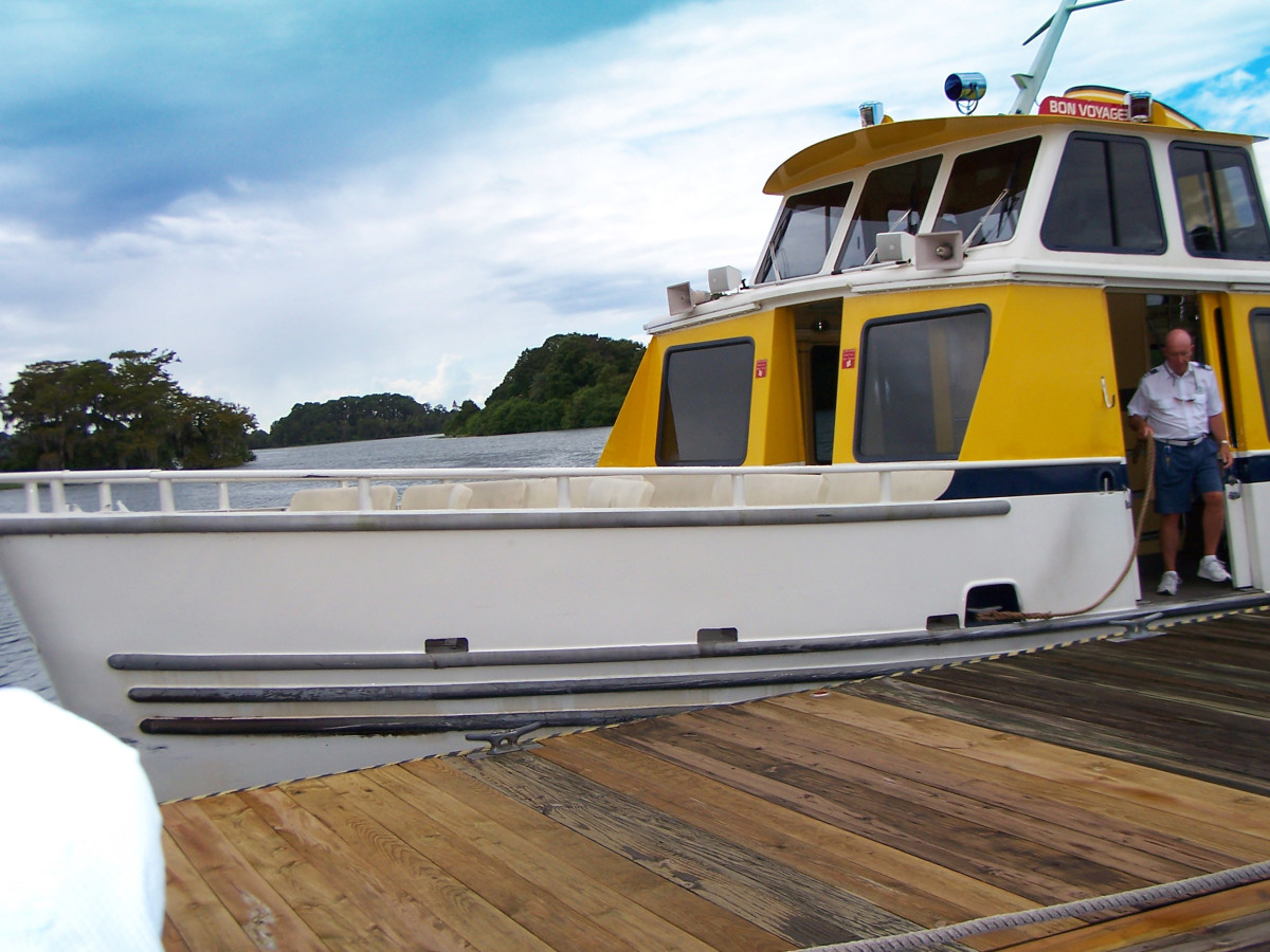 Disney Transportation System: This shuttle boat runs every 20 minutes from Fort Wilderness to the Magic Kingdom.