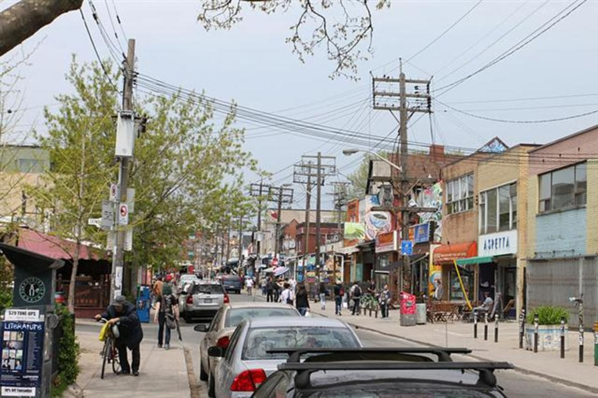 Augusta Avenue in Kensington Market is home to many interesting shops.