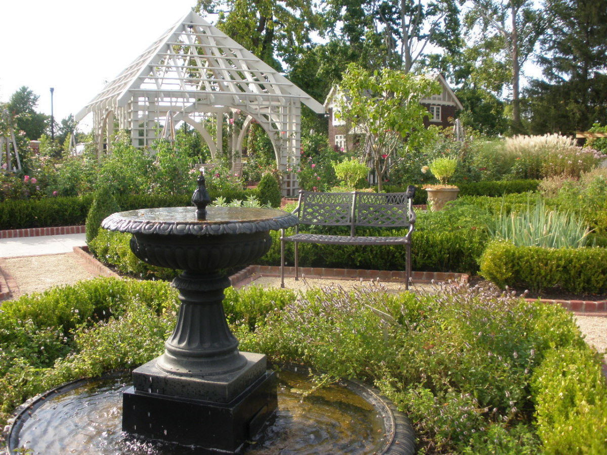 Franklin Park has many different structures and varieties of ways to feature their plants.