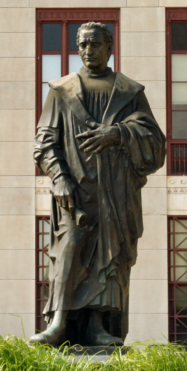 Statue of Christopher Columbus in front of City Hall