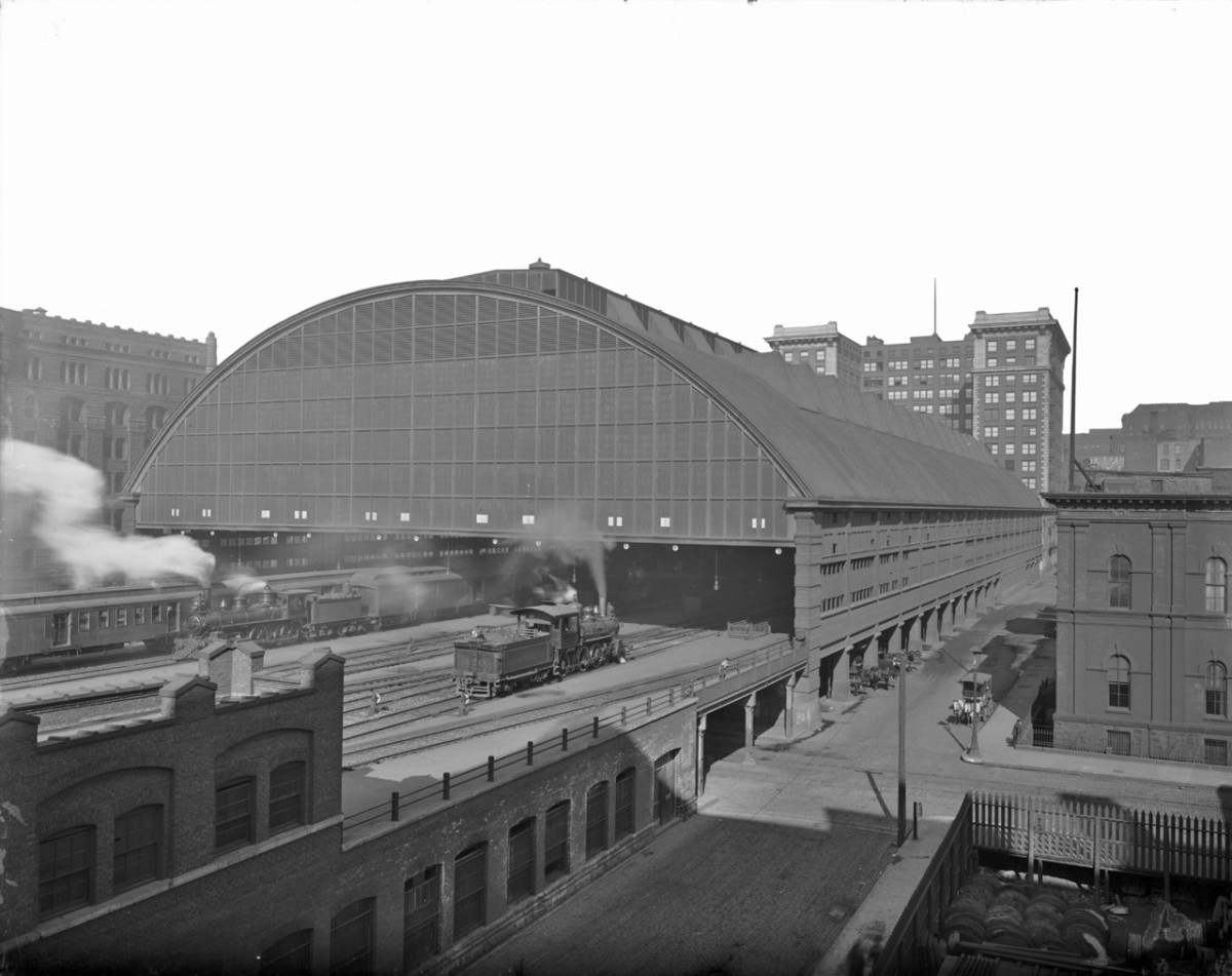 LaSalle Street Station train shed, 1905.