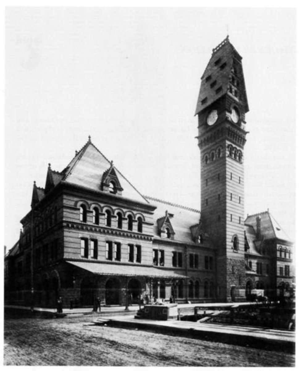 Dearborn Station before the 1922 fire.