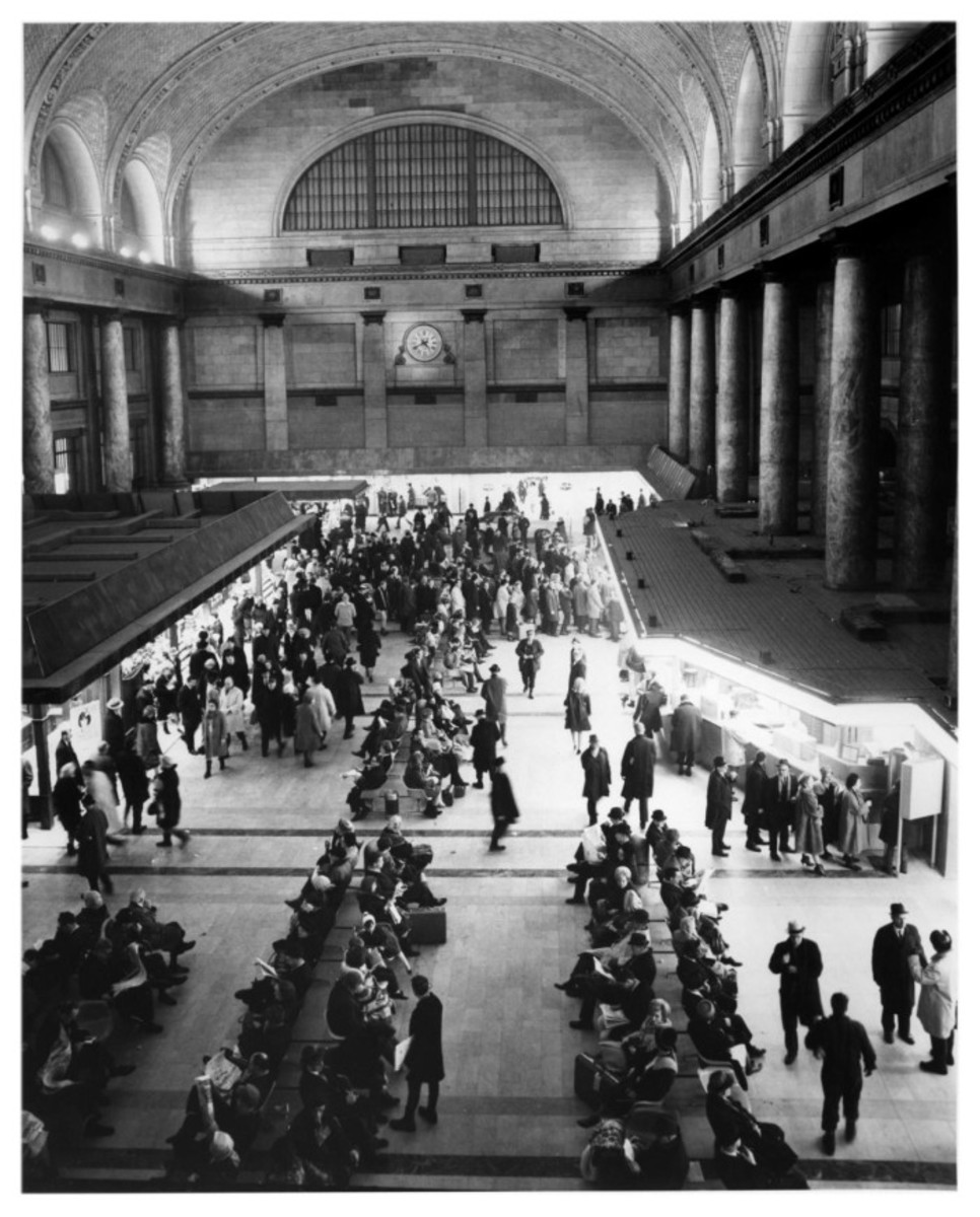 Interior of Chicago and Northwestern Terminal, circa 1965.