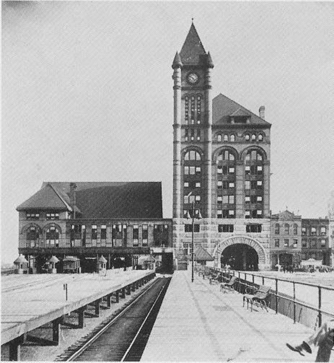 Illinois Central Station as seen in an 1894 photo.