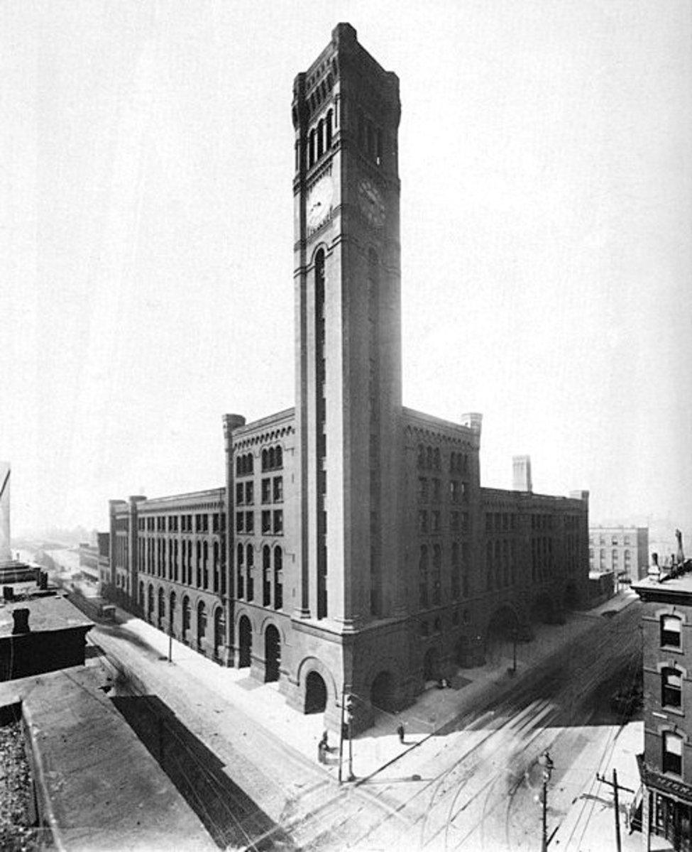 Architectural photo of Grand Central Station, circa 1900.