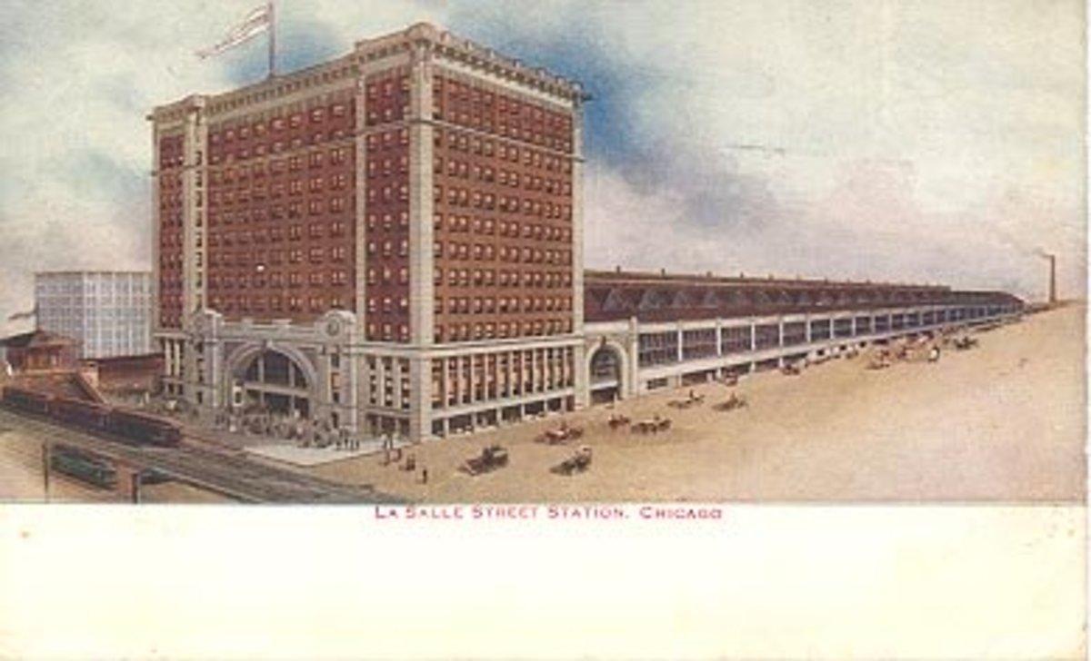 Postcard of LaSalle Street Station, circa 1910.