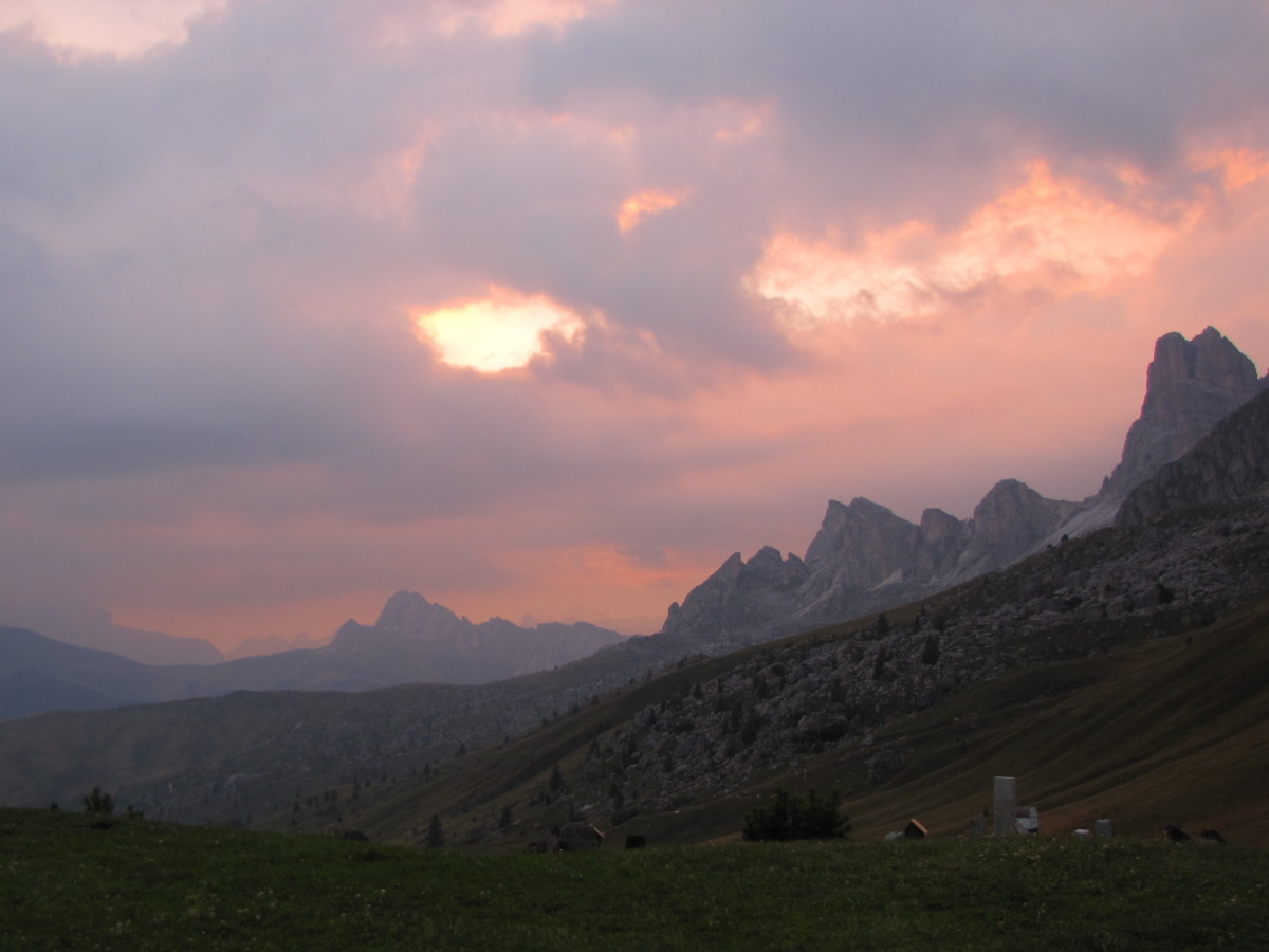 Sunset from Passo Giau