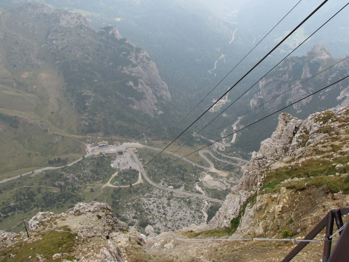 The cable car ride up