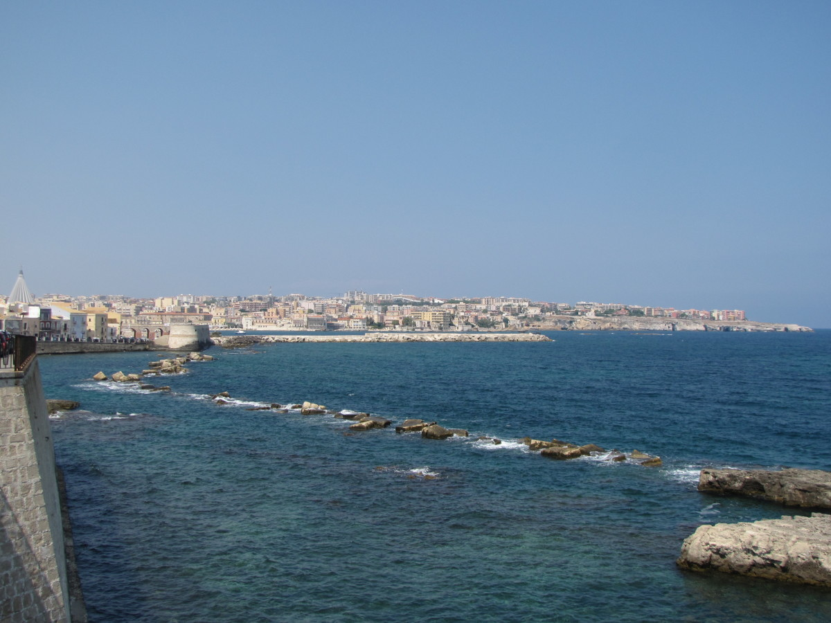 Siracusa from Ortygia.