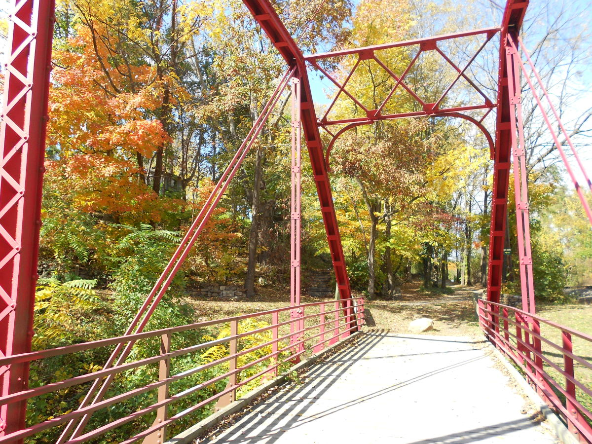 This is an historical bridge from the early days of Hot Springs.  It crosses Spring Creek between the town and the Hot Springs Resort.