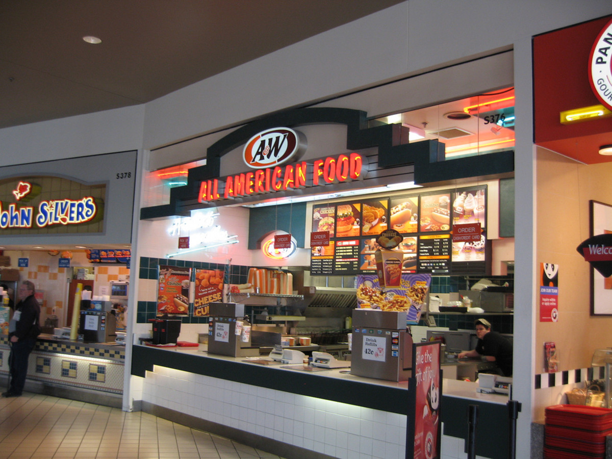 A&W Restaurant in one of the food courts at the Mall of America