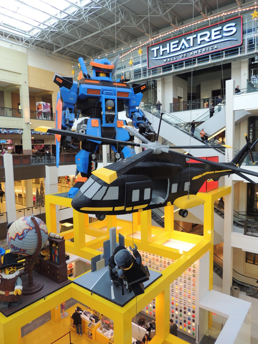 Large Lego Models above the Lego Store