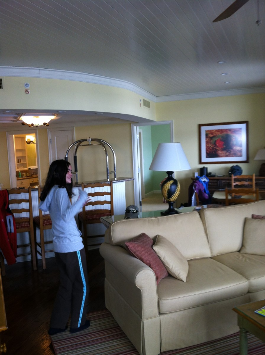 The 2 bedroom suites at The Rosseau are very spacious.