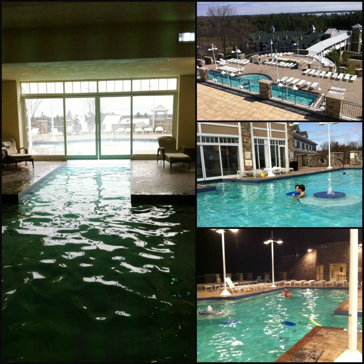 Our family loved the indoor/outdoor pool at the Marriott Rousseau resort!