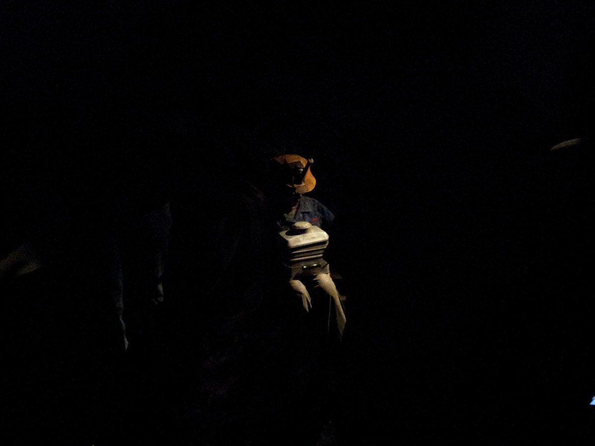 A lone child who sat in the dark in an air vent shaft whose job was to open the doors for coal cars.