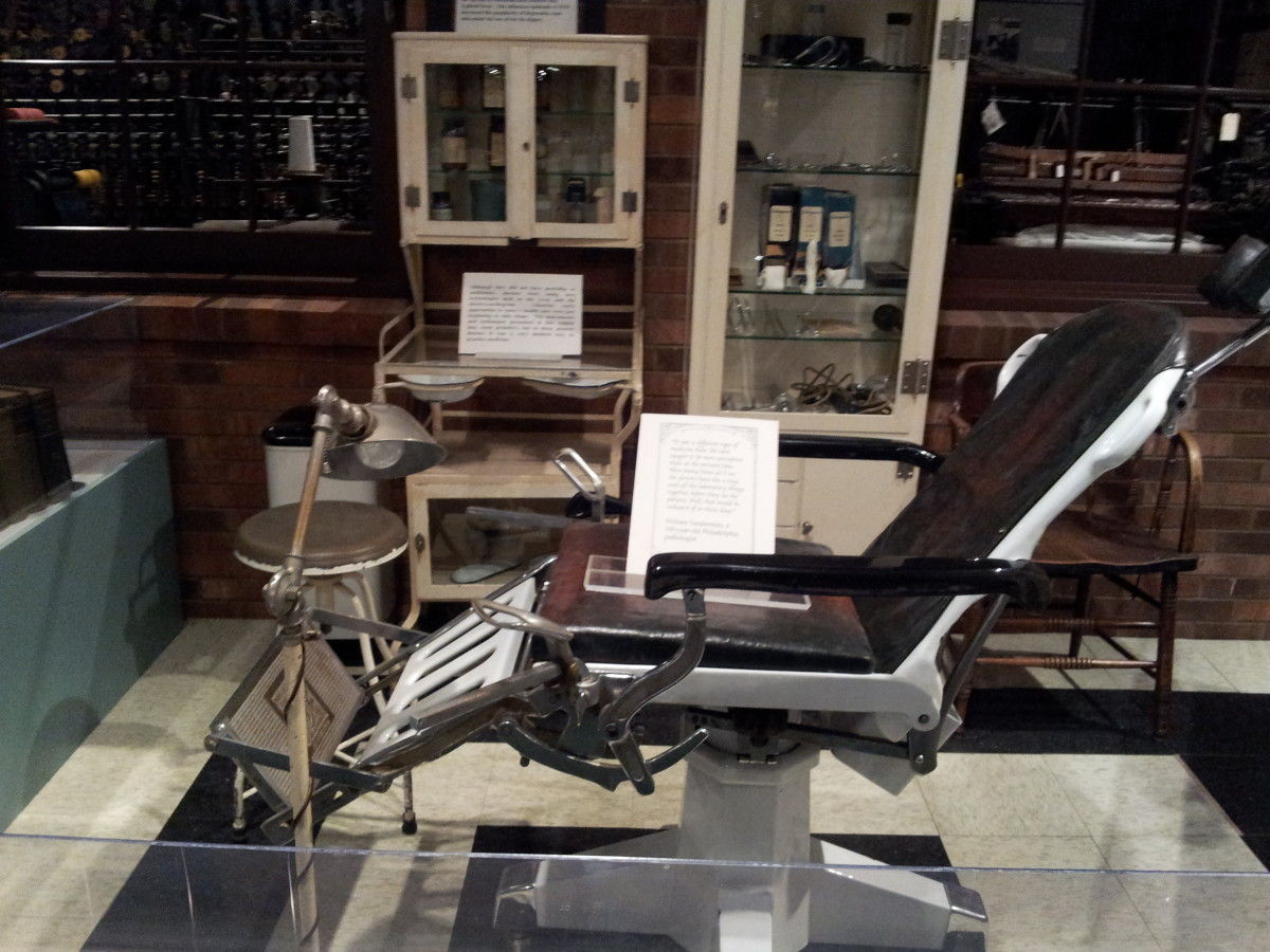 A doctor's chair and tools
