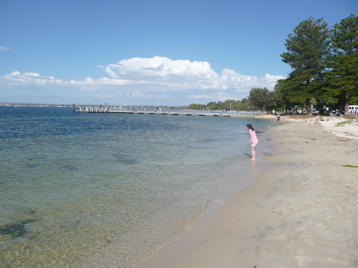 On the shore of the Swan River