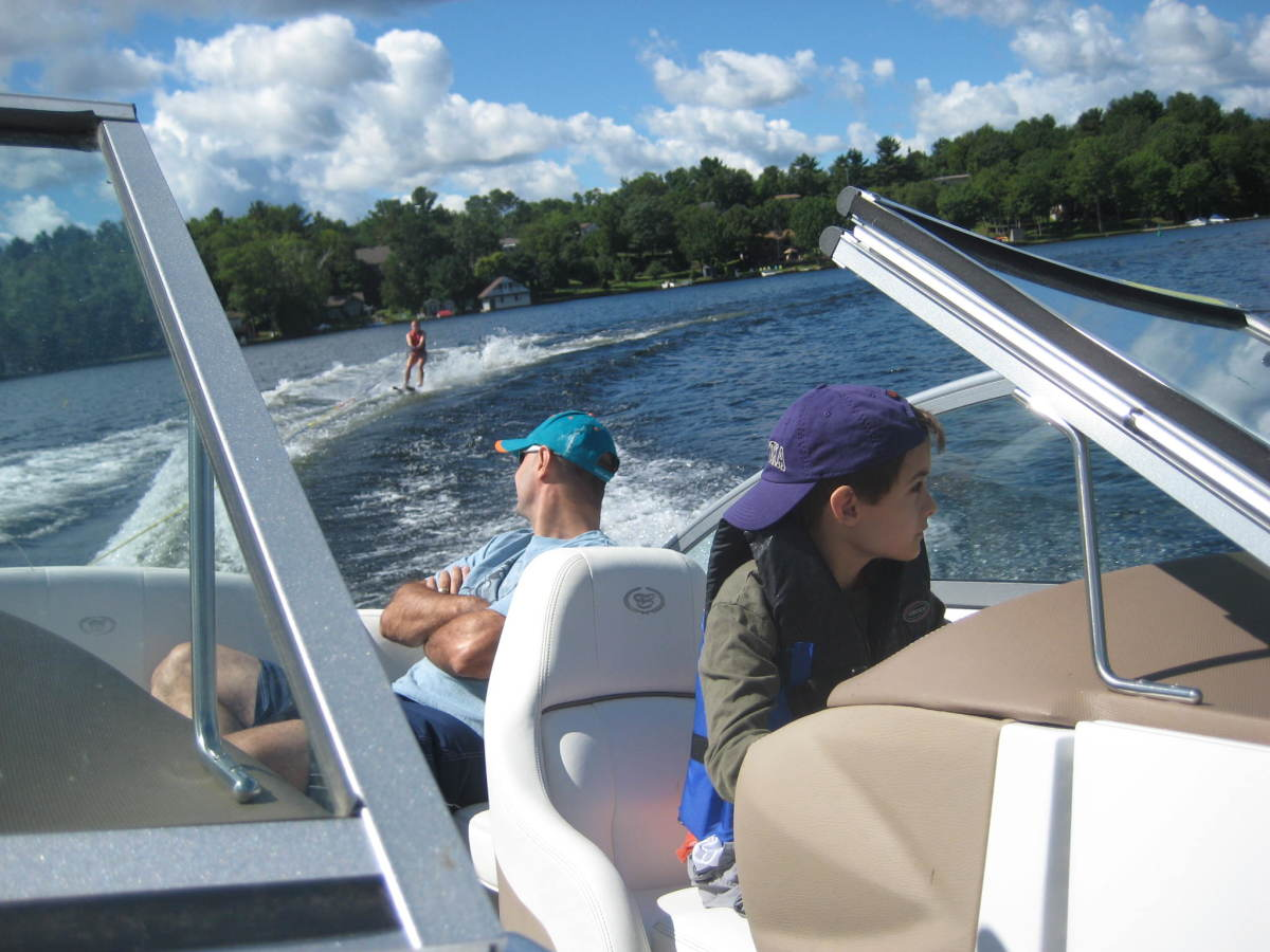 It's nice to have friends with a boat and a cottage on Lake Muskoka!