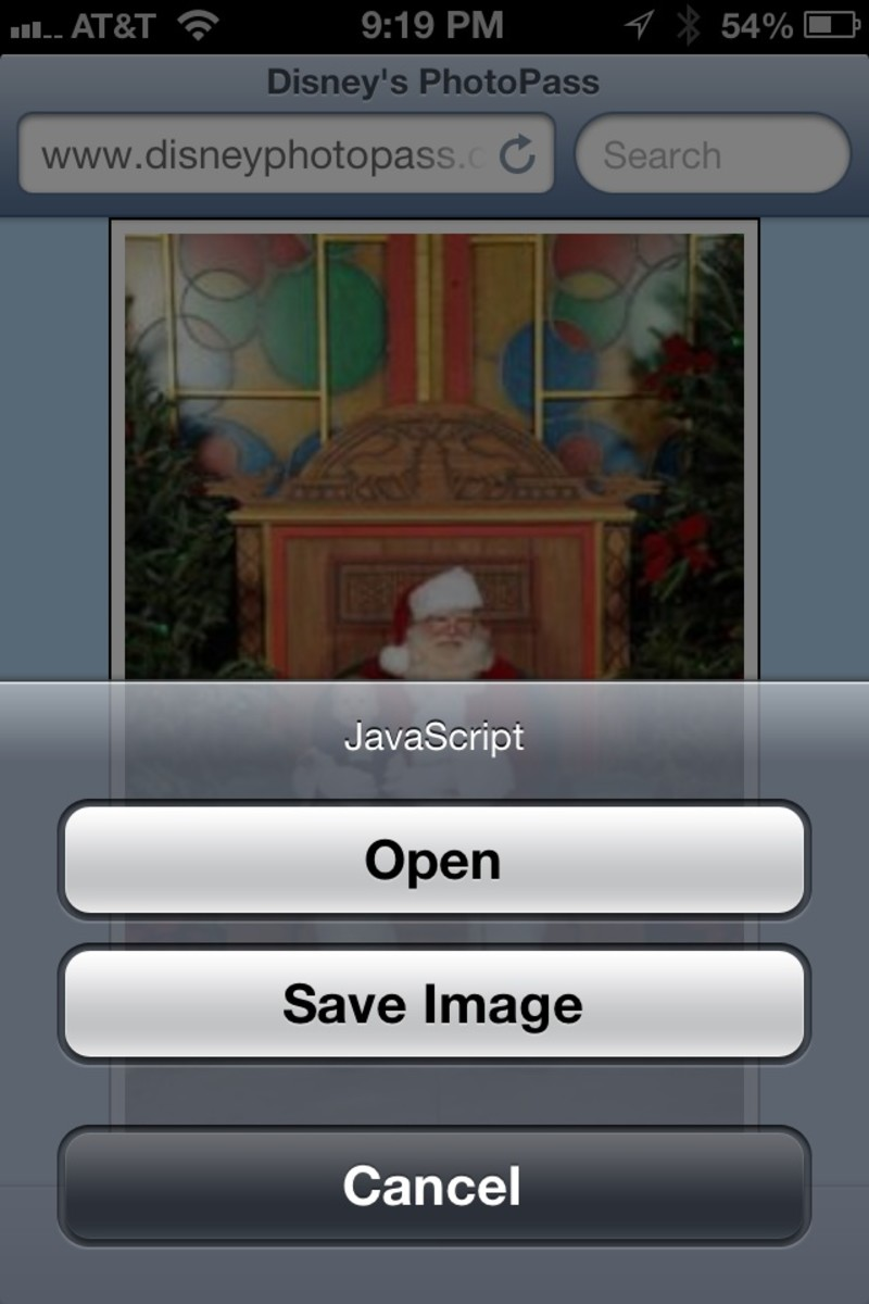 iOS Has An Option To Save Images