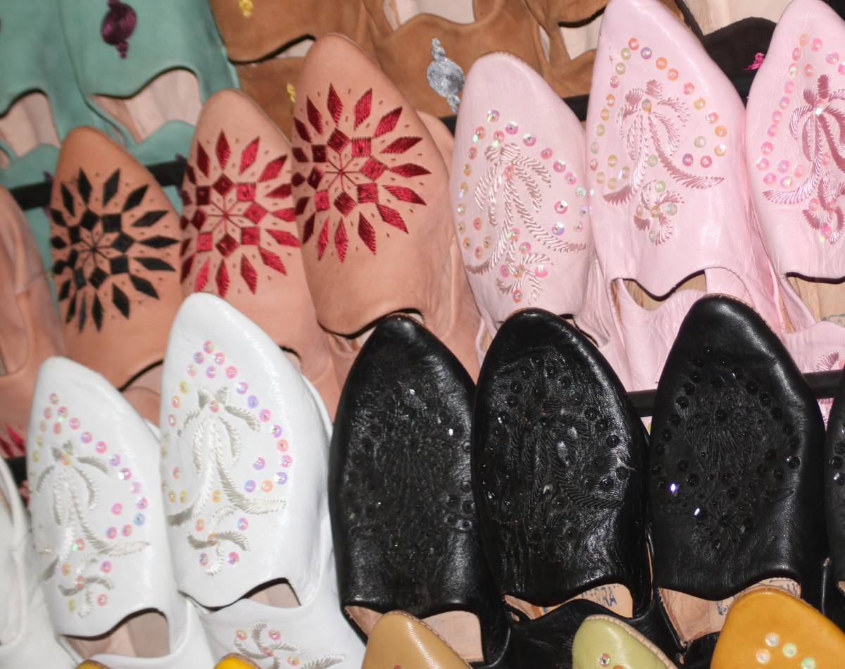 Babouches are a fantastic looking Moroccan shoe that would make excellent slippers for at home. Made from luxurious leather too