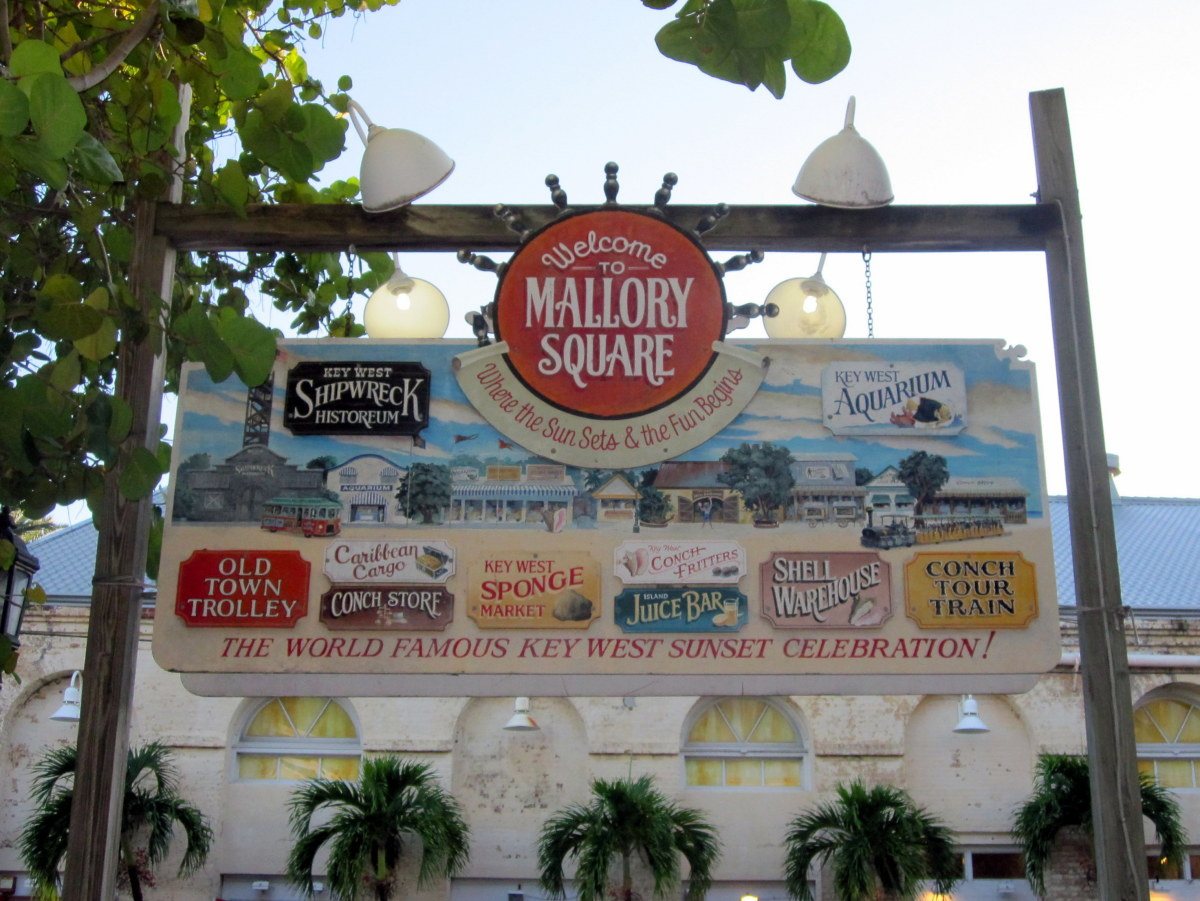 Mallory Square is home to Key West's nightly sunset festival