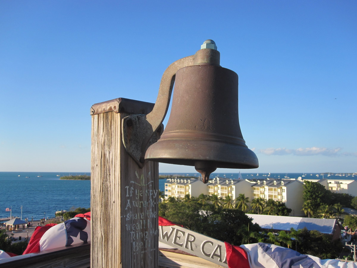 The bell on the observation tower.