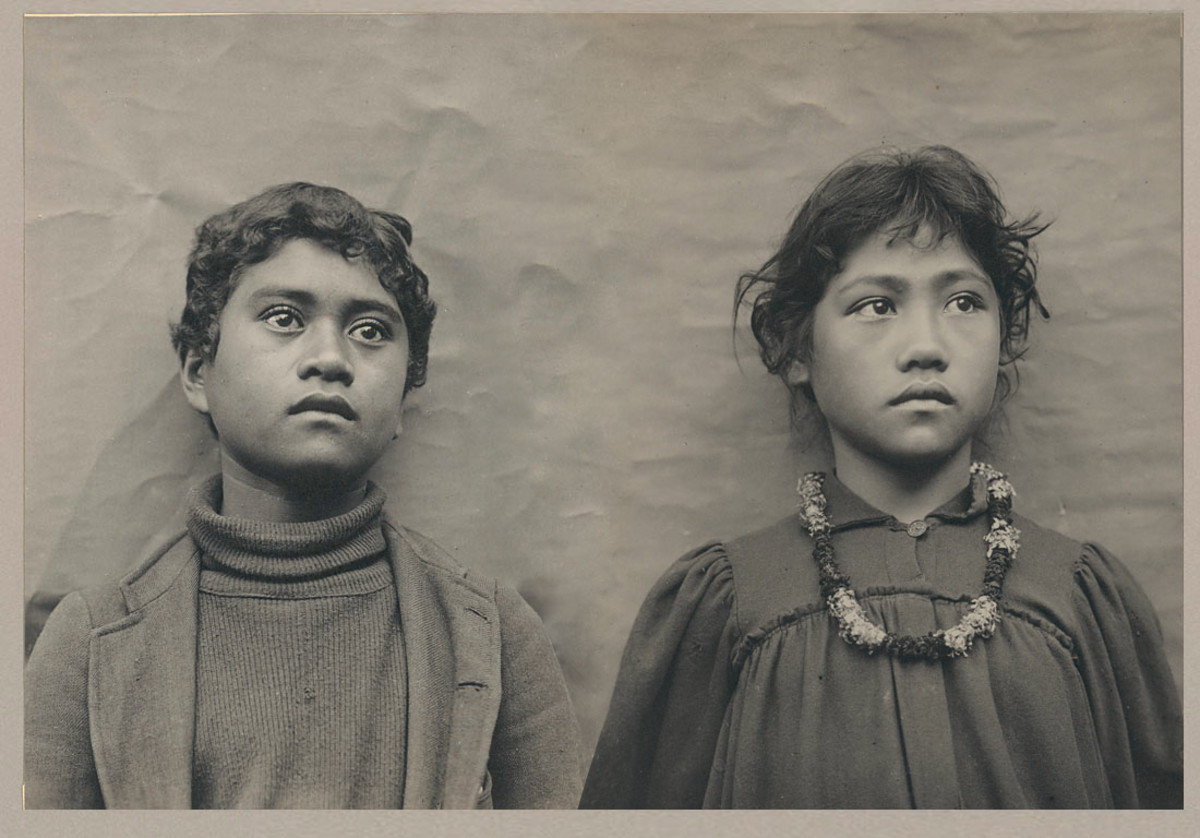 Hawaiian schoolchildren, 1900
