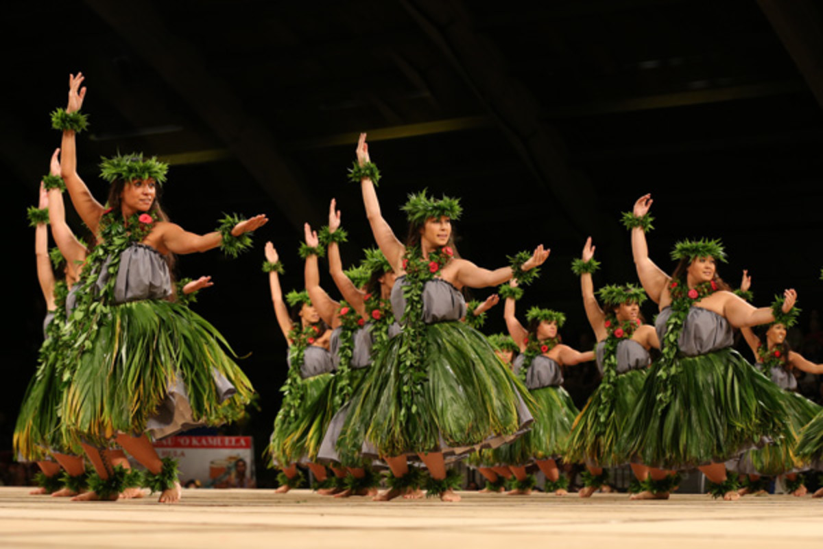 Dancers at the Merrie Monarch Festival, an annual celebration of hula.