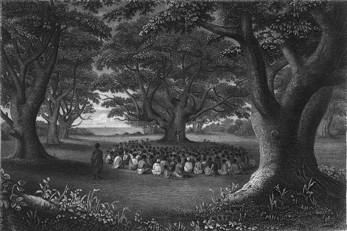 Missionaries Preaching Under Kukui Groves, 1841