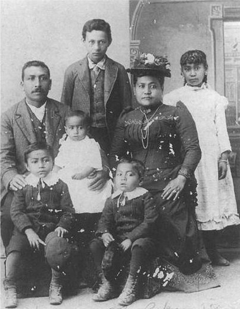 Native Hawaiian Family circa 1890
