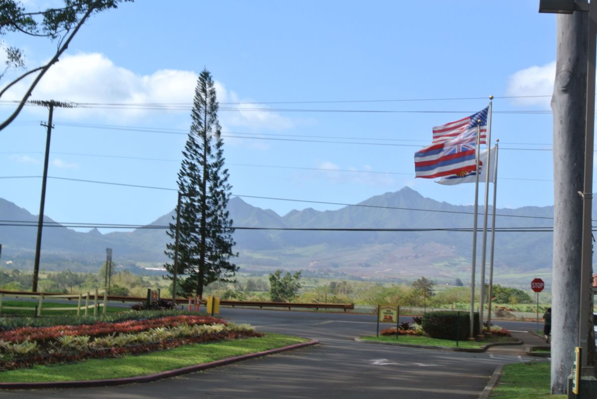 Entrance to the Dole Plantation