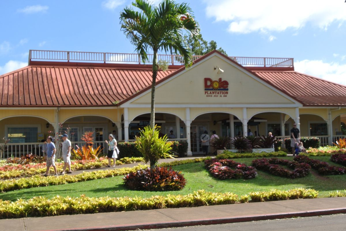 The entrance to the Dole Pineapple Plantation in Oahu, Hawaii