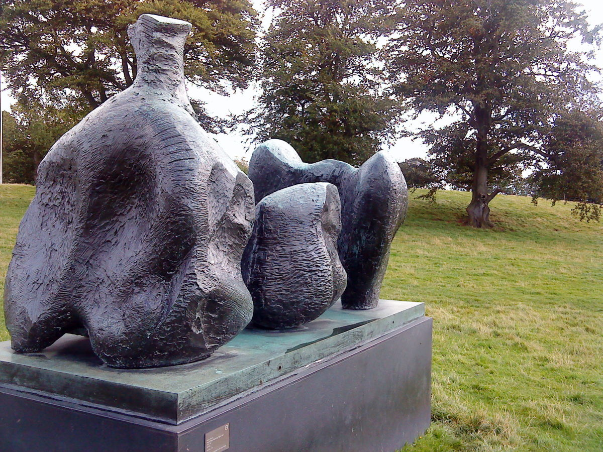 Henry Moore sculpture.