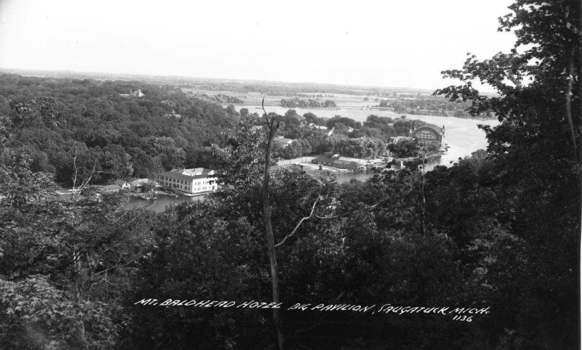View of old Saugatuck from Mt. Baldy 1940