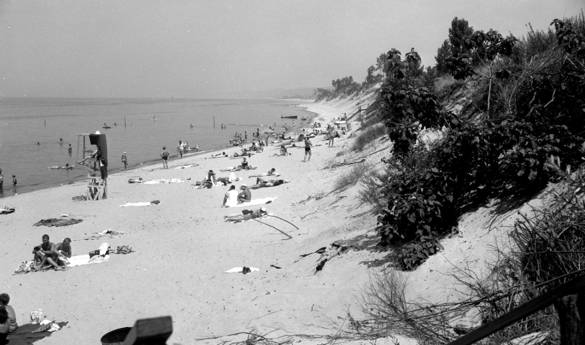 The beach itself was much different in its earlier years. It was narrower with a steeper bluff. Much of the bushy vegetation is gone leaving mostly the beautiful wind blown beach grasses.