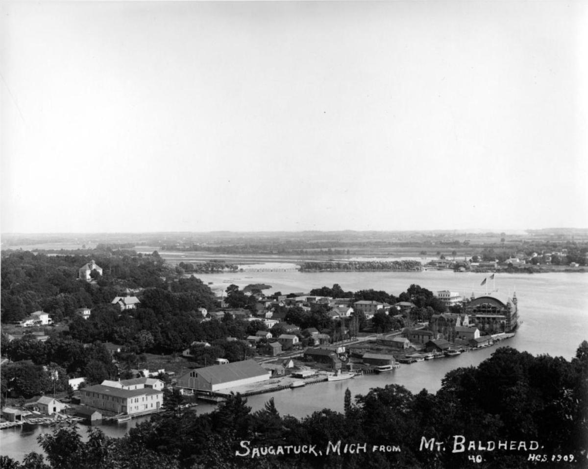 View of old Saugatuck from Mt. Baldy 1969