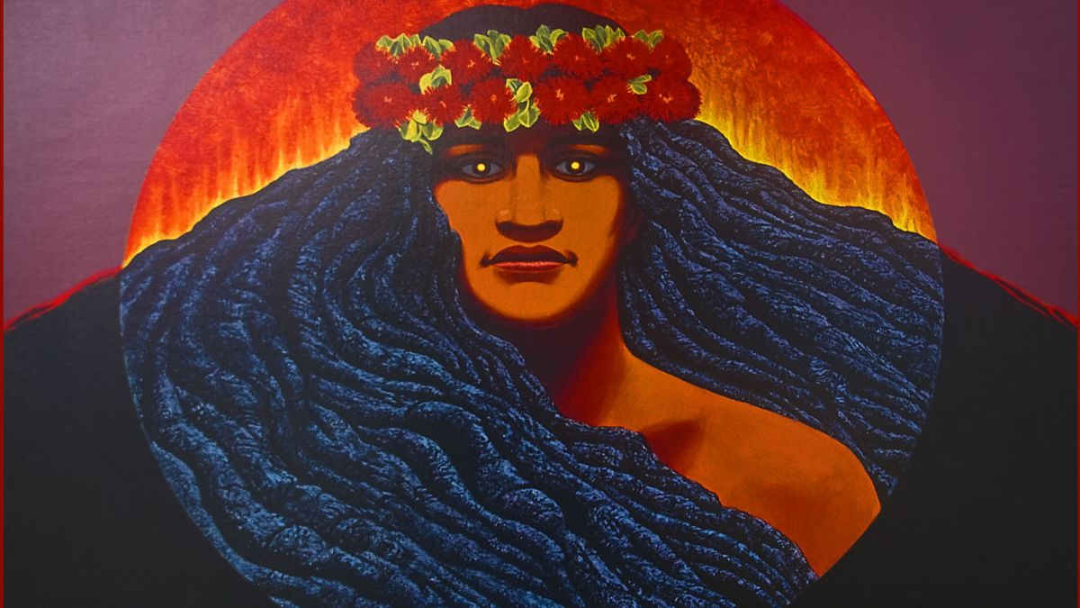 Pele, Hawaiian goddess of the volcano, is also known as Ka Wahine 'Ai Honua: the earth-eating woman.