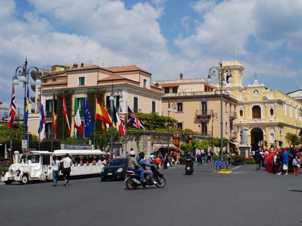 Piazza Tasso, the main square in Sorrento