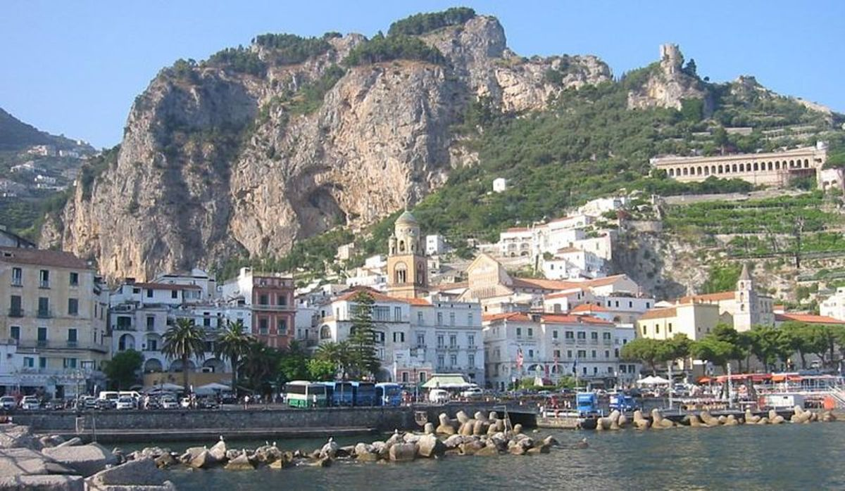 The stunningly beautiful town of Amalfi