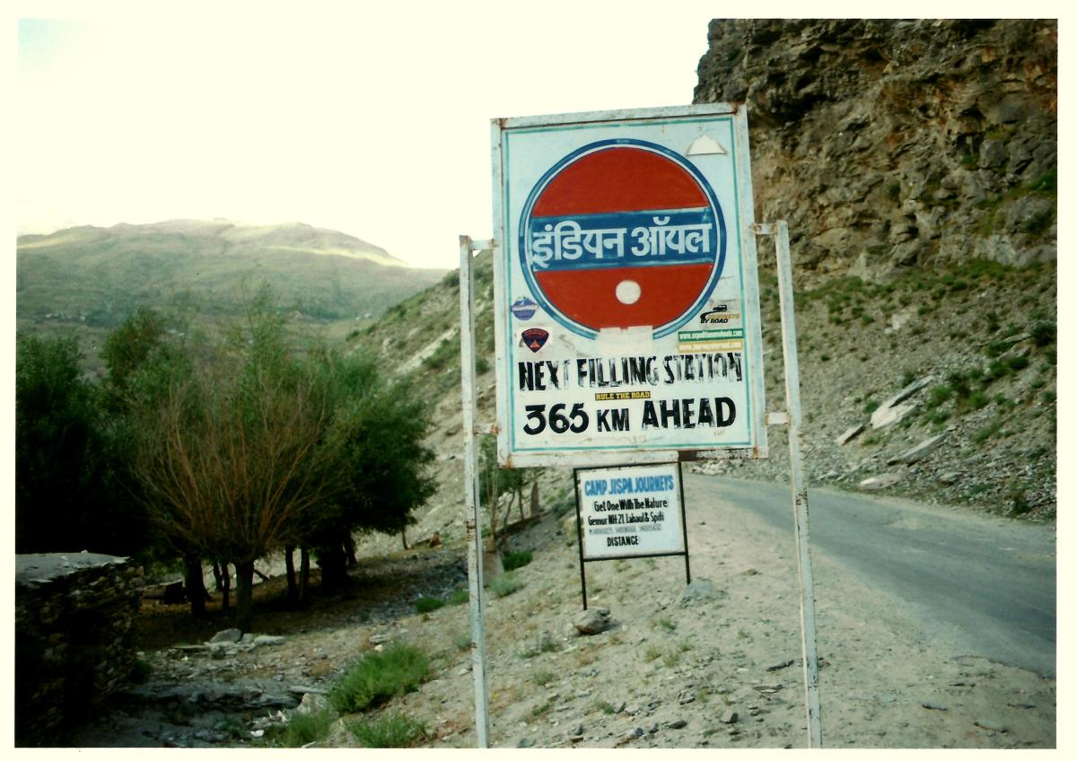 The last petrol pump on Manali Leh highway
