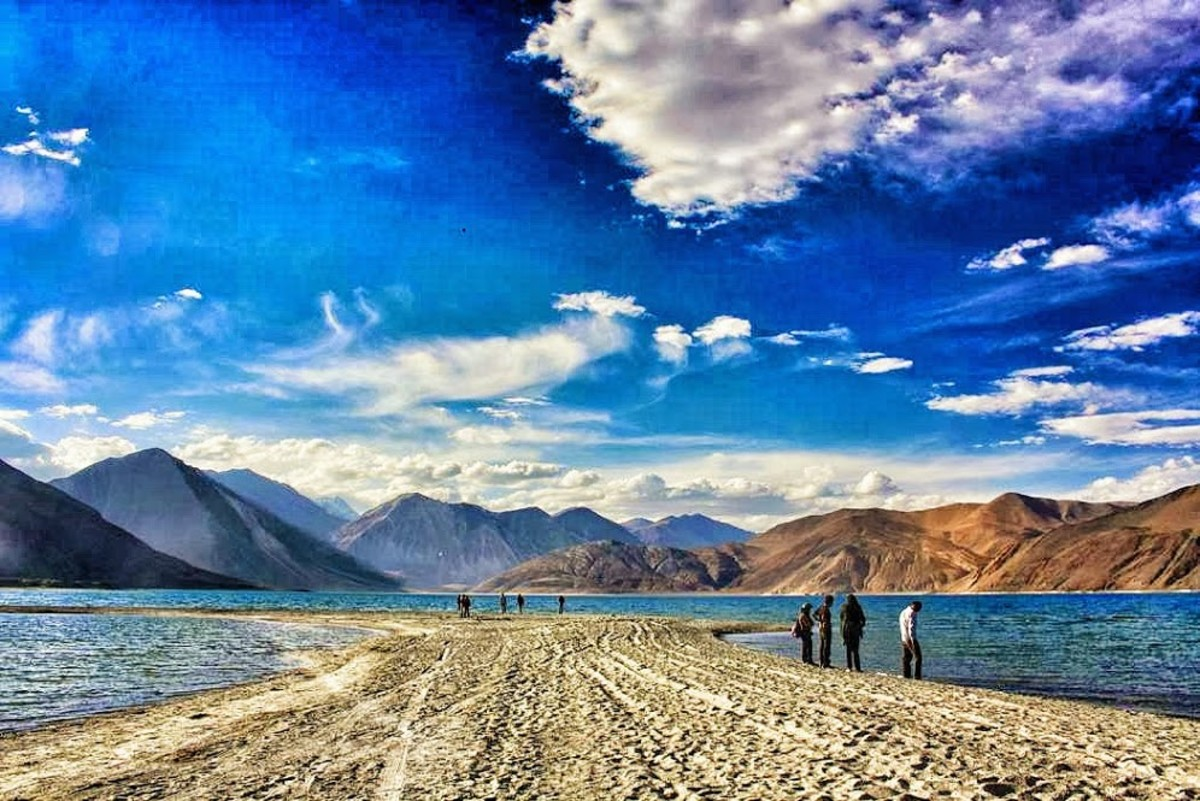 3 Idiots Point: Pangong Tso, Ladakh