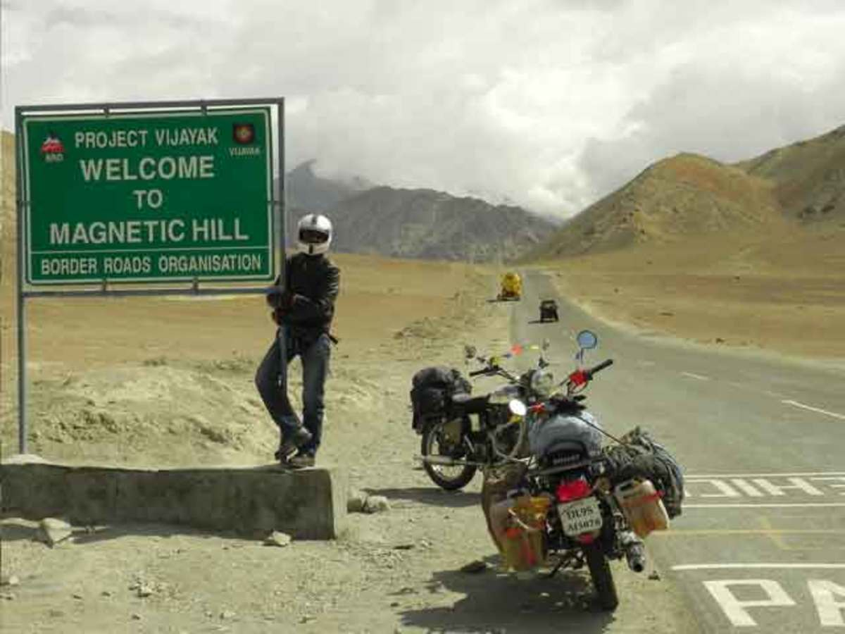 Magnetic Hills on the Leh-Srinagar Highway, Ladakh