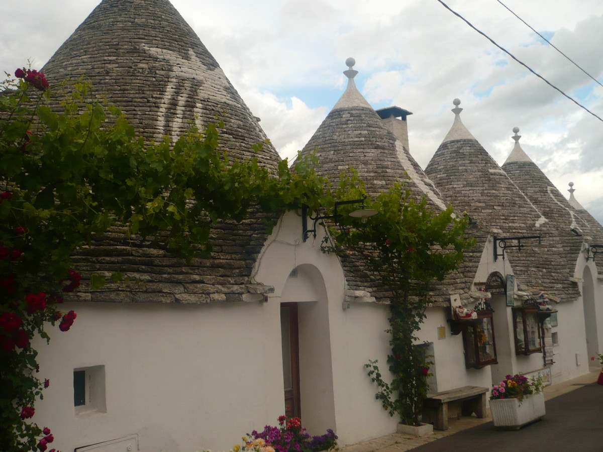 In Alberobello you will see trulli shops, trulli accomodation, trulli private residence and even a trullo church.