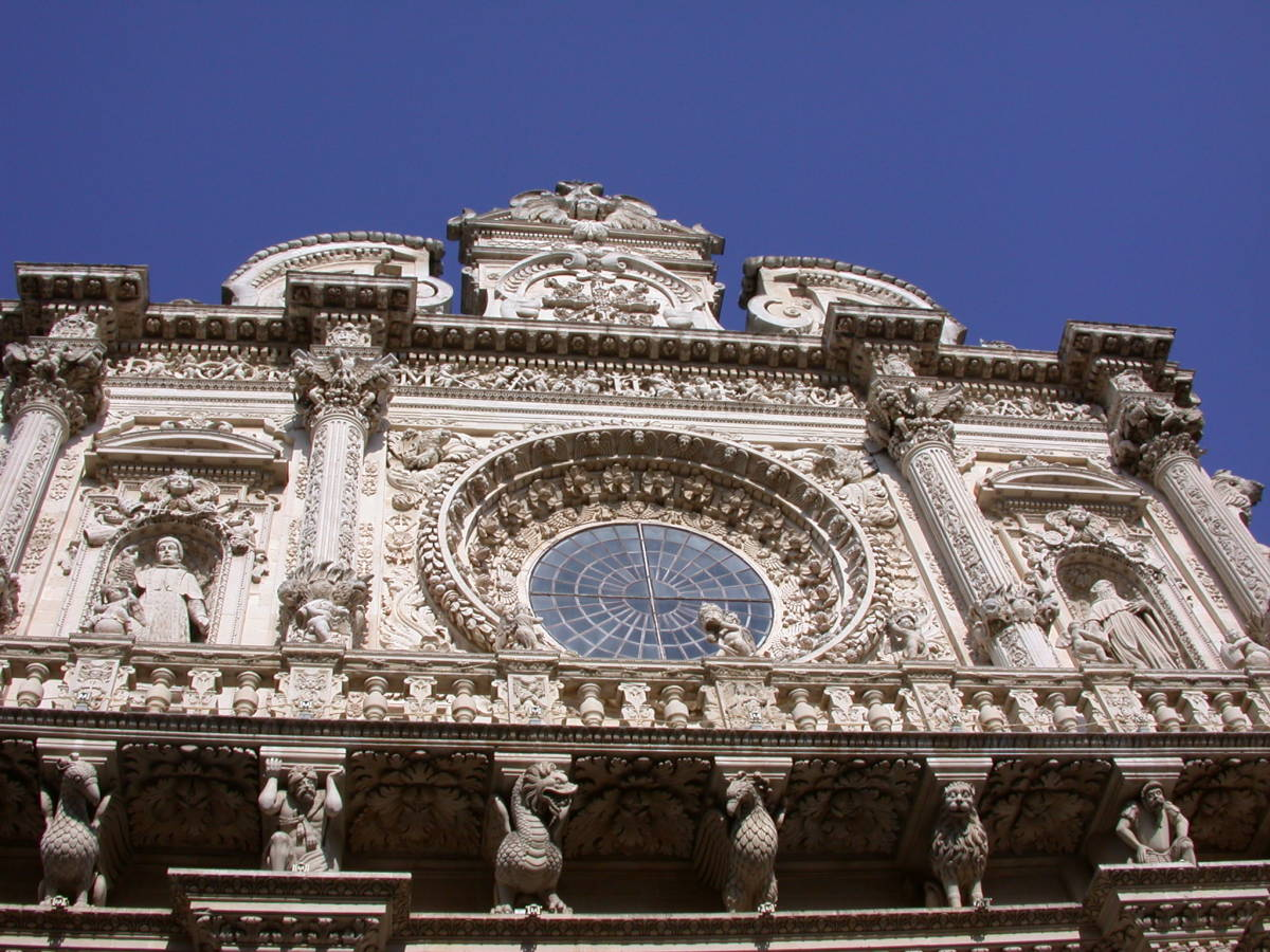 One of the highlights in Lecce is the Basilica of Santa Croce.