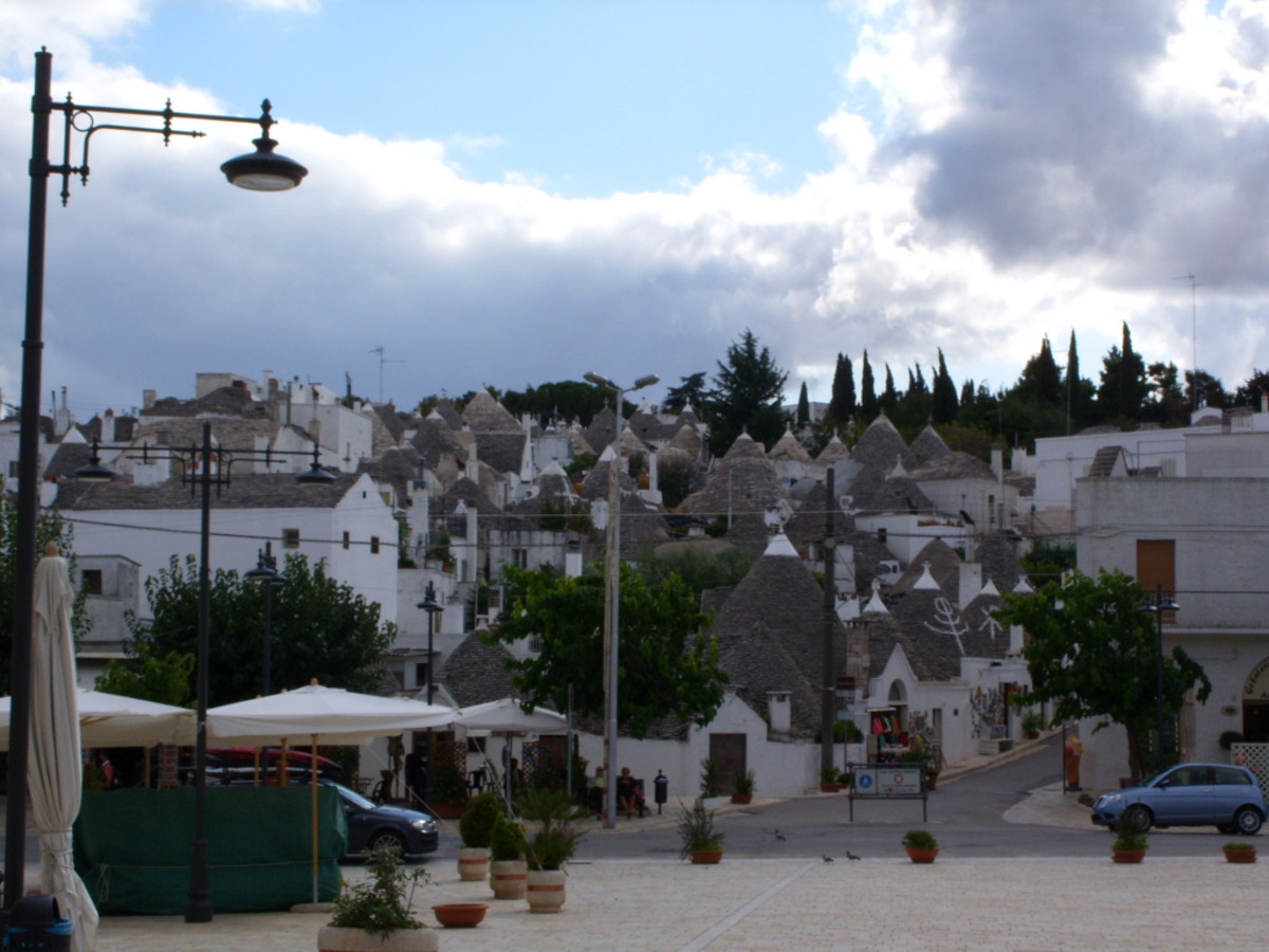 Alberobello, known as the capital of the trulli with some 1000 still in existence.
