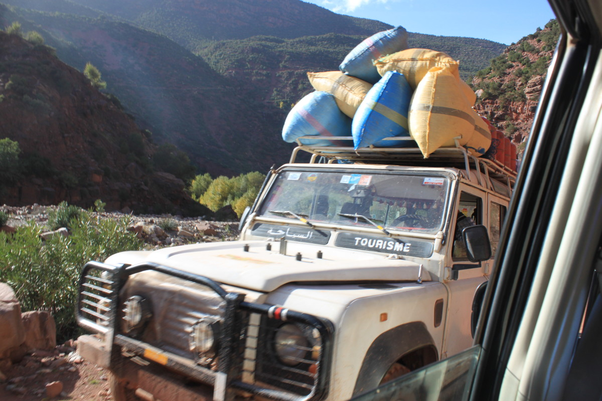 Jeeps are a great way to explore the Zat Valley in a short space of time although they're vital transport for local families